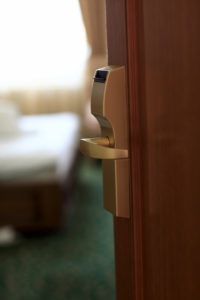 hotel door key lock